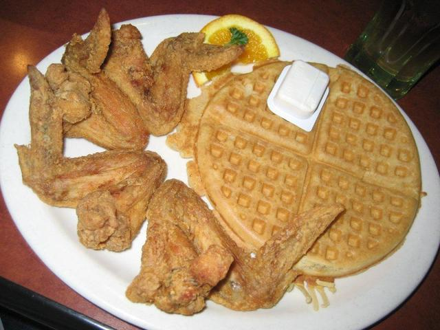 The perfect combination of sweet and salty! - Midnight Train at Gladys Knight and Ron Winans Chicken & Waffles