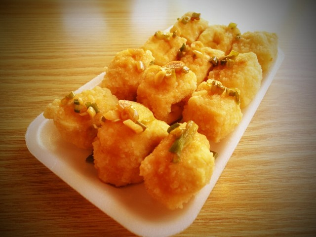 Fried Tofu - Fried Tofu at Oasis Tea Zone