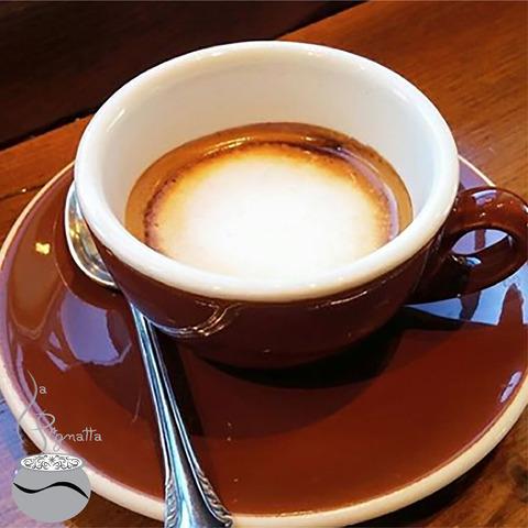 Check out the espresso macchiato (stained) @lapignatta.grabngo . We are now featuring the Black Velv - espresso macchiato (stained) at La Pignatta