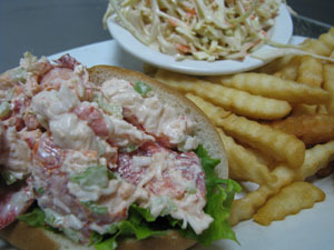 Lobster Roll at Shopper's Cafe Bar & Grille