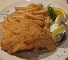 Fish & Chips at Brother Pizza, Restaurant & Lounge