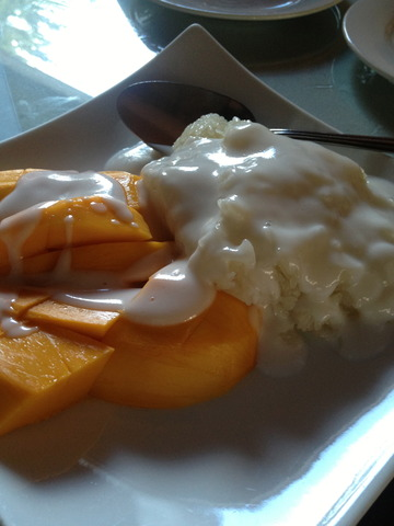 Mango and Sticky Rice at Krua Thai Cafe