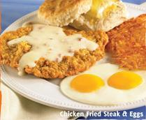 Chicken Fried Steak & Eggs at Carrows