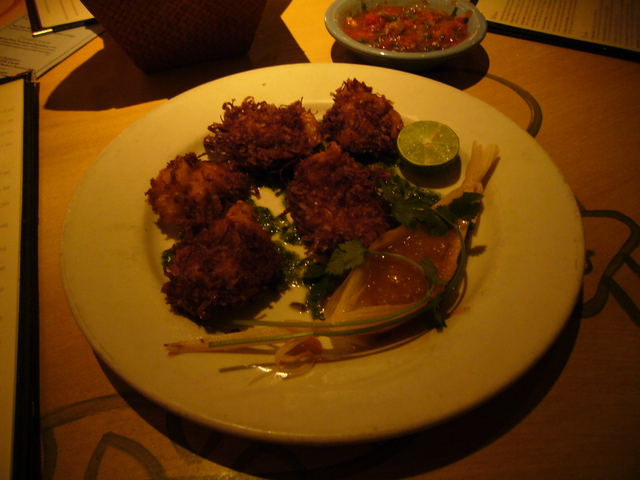 Coconut Prawns at Cactus Restaurant