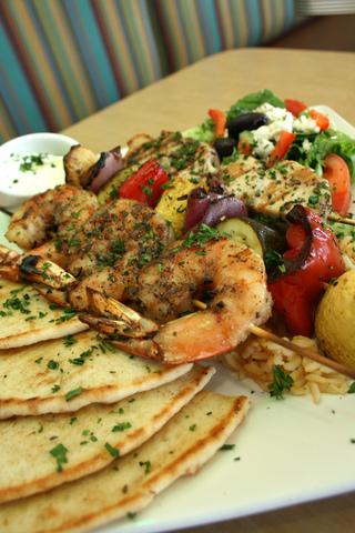Shrimp Skewer at Kafe Neo