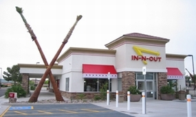 Interior at In-N-Out Burger