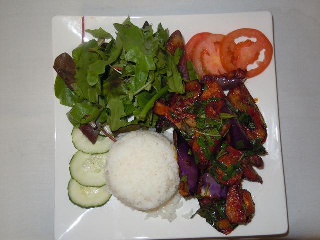 Eggplant Tofu at Saba Cafe
