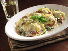 Marsala Chicken Ravioli at Romano's Macaroni Grill