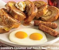 Grandma's Cinnamon Loaf French Toast™ at Carrows