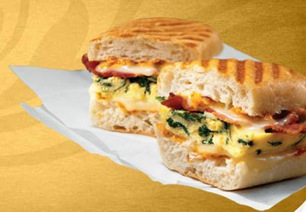 Spinach & Bacon at Einstein Bros. Bagels