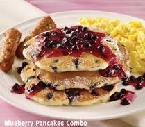 Blueberry Pancakes at Carrows