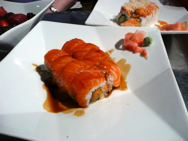 Crazy Salmon Roll at XS