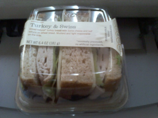 Gobble Gobble! - Turkey & Swiss sandwich at Starbucks Coffee