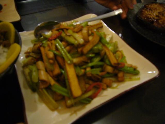 Seaweed & dry tofu at Facing East Taiwanese Restaurant