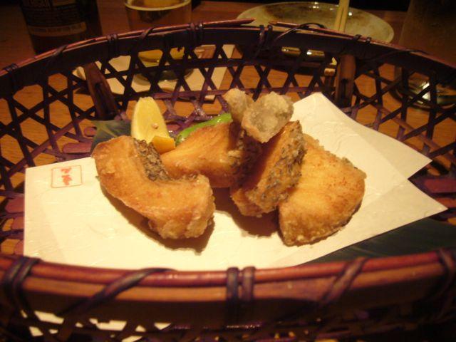 sake-marinated medallions lightly fried - Sea Bass Kara-age at EN Japanese Brasserie