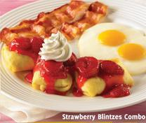 Strawberry Blintzes at Carrows