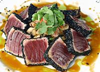 Pan Seared Ahi Tuna at Kirby's Steakhouse