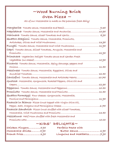 Dish at Caffe Capri