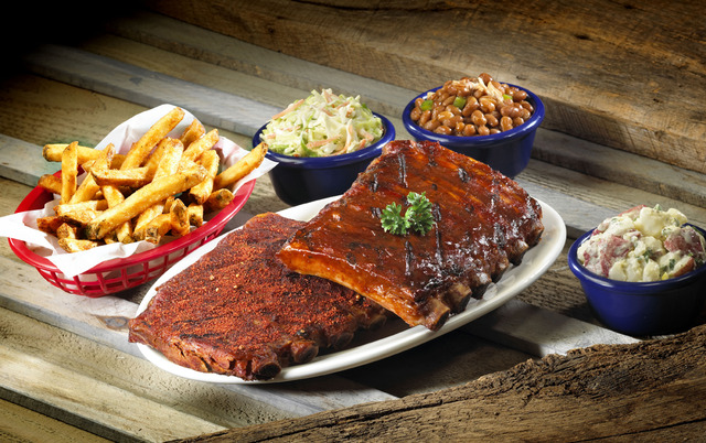 70.  Half Rack Ribs at Red Hot & Blue