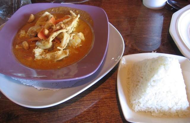 Masaman Curry with Chicken at Tomyum Thai