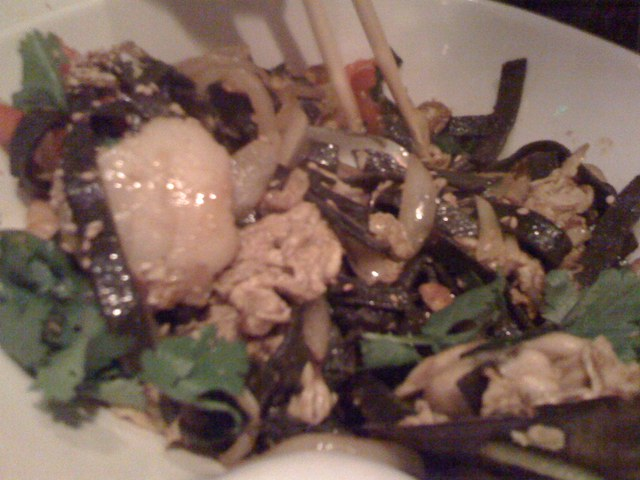 Singapore Seafood Noodles at Buddha's Belly