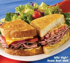 Mile High® Roast Beef Melt at Carrows