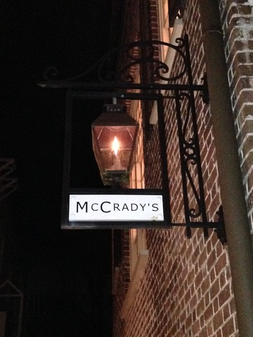 Traditional Gas Lanterns Light the Way to the Restaurant's Main Entry - Exterior at McCrady's