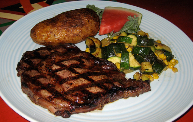 Rib-Eye Steak at Lista's Grill