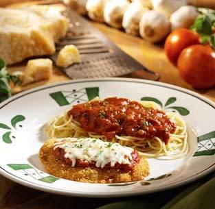 Chicken Parmigiana at Olive Garden