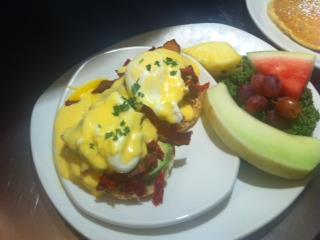 Eggs Benedict at Blueberry Hill