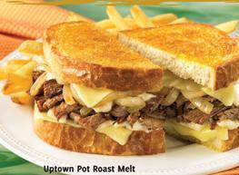 Uptown Pot Roast Melt at Carrows