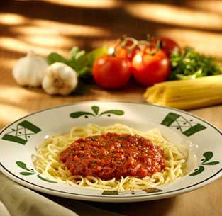 Linguine alla Marinara at Olive Garden