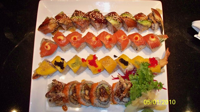 Roll Combo at Arisu Japanese Cuisine