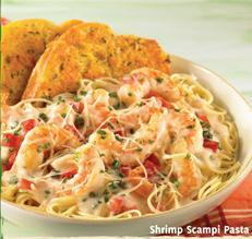 Shrimp Scampi Pasta at Carrows