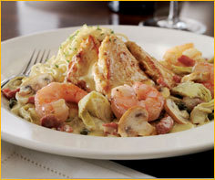 Chicken & Shrimp Scaloppini at Romano's Macaroni Grill
