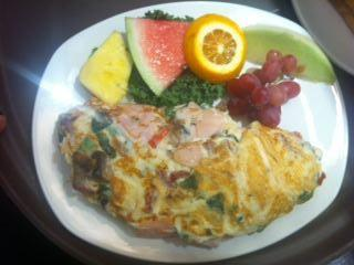 Omelette at Blueberry Hill