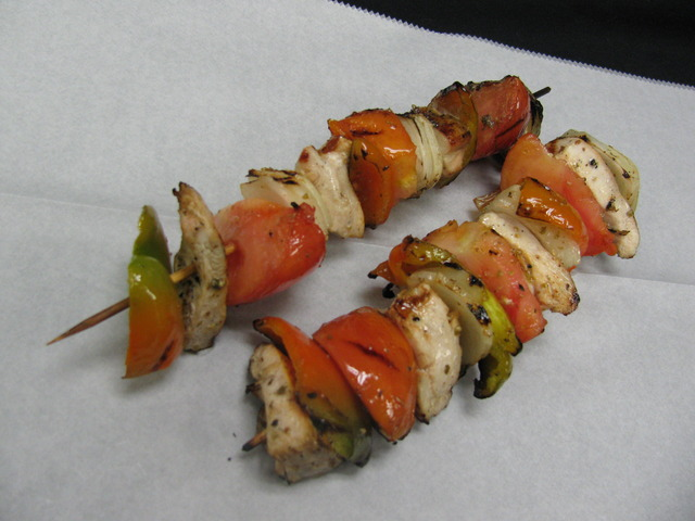 Chicken or Steak Kabobs at Chicago Blu Grill and Bar