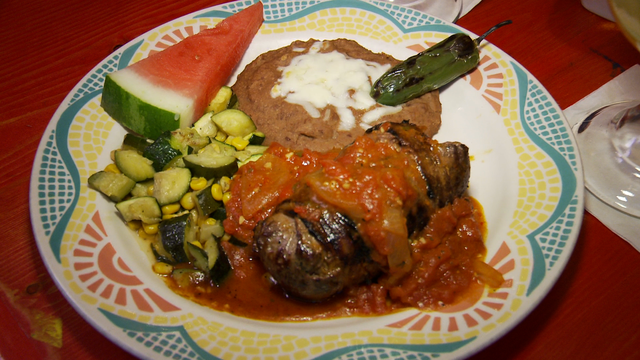 Lista's Steak Relleno (special) at Lista's Grill
