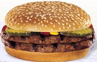 Double Hamburger at Taxi's Hamburgers