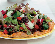 Tricolore Salad Pizza at California Pizza Kitchen