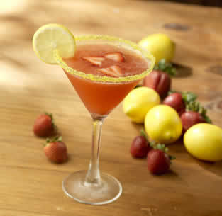Strawberry-Limoncello Martini at Isaac's Restaurant & Deli