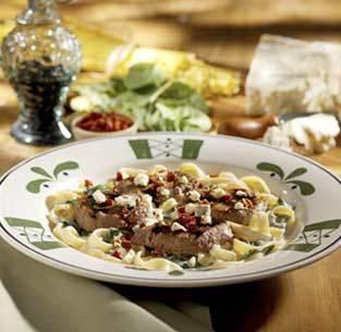 Steak Gorgonzola-Alfredo at Olive Garden