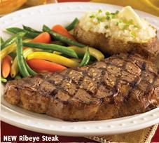 New Ribeye Steak at Carrows