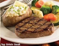 Top Sirloin Steak at Carrows