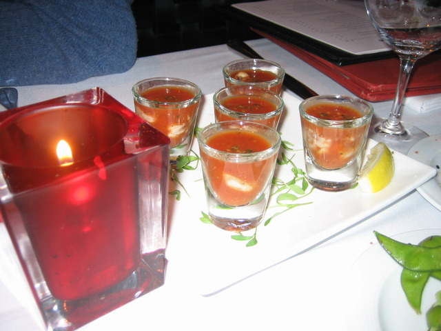 1/2 Dozen Oysters with a Bloody Mary Oyster Shooter at Butterfly - Embarcadero