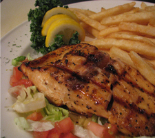 Salmon at Brother Pizza, Restaurant & Lounge