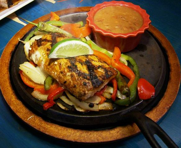 Fish Fajitas with Mahi at Lista's Grill