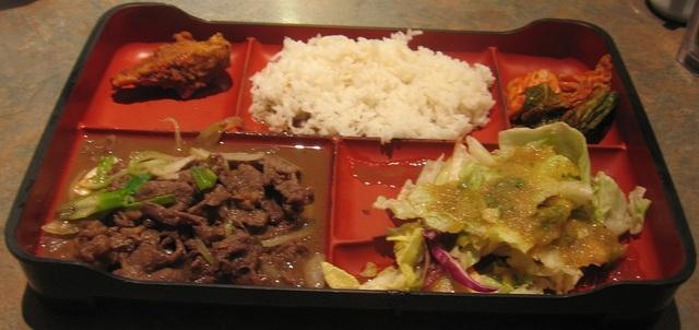 Beef Bento Box at Korean Garden
