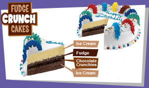 Fudge Crunch Cakes at Dunkin' Donuts/Baskin Robbins