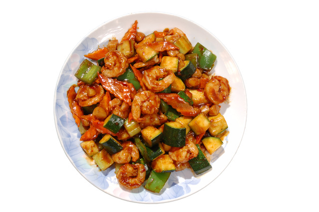 Kung Pao Prawns at Shanghai Restaurant